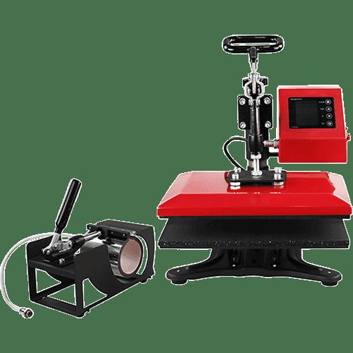 K2-red-color-heatpress-sublimation-printing-machine-mug-shirts