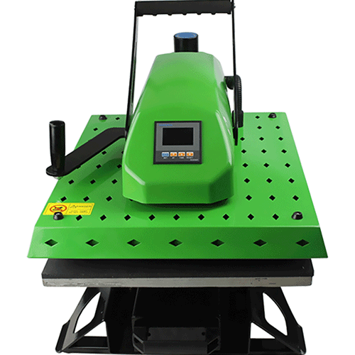 KTM-green-color-heatpress-sublimation-printing-machine-shirt-shop-crafts