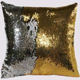 Golden Square Gliter Pillows - 1