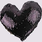 Black Square Glitter Pillows - 1